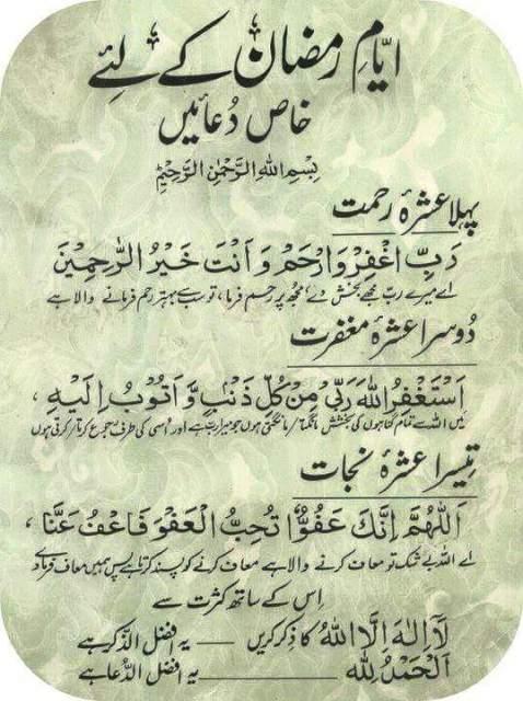 Ramzan ul Mubarak Duain