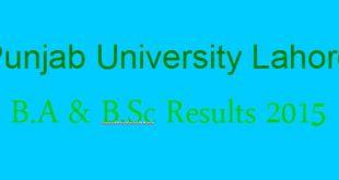 PU B.A /B.Sc annual Result 2015