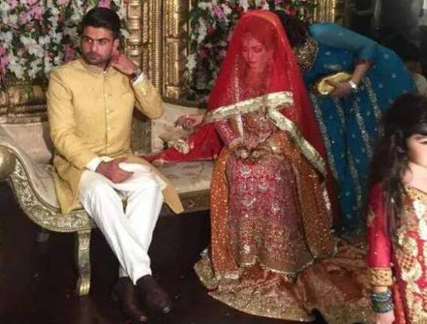 Pakistan opener Ahmed Shehzad with Sana Murad photos