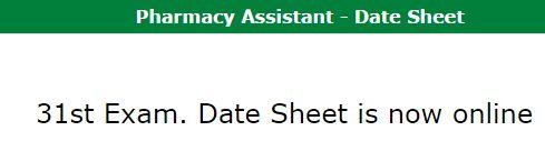 punjab pharmacy council lahore date sheet
