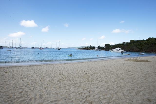 Honeymoon Beach Sailboats
