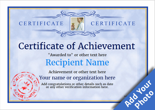 Certificate of Achievement - Free Templates easy to use Download - free template certificate