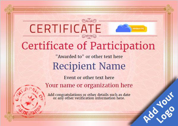 Certificate Of Participation Free Template - Unitedijawstates - certificate of participation free template