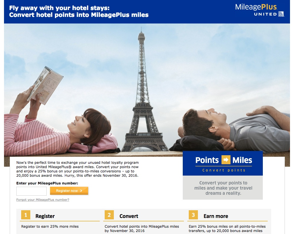 Miles And More Points Convert Hotel Points To United Mileageplus With 25 Bonus