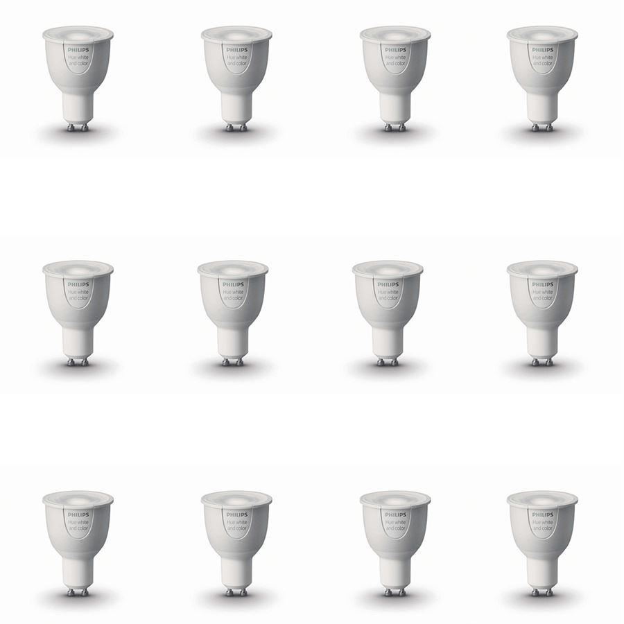 Hue Pack Philips Hue Multi Pack 12 X White And Colour Ambiance Gu10 Lamp