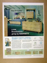 1957 Bassett Selandia Group scandinavian style furniture ...