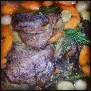 Not a dish to be hurried but a great meal for a busy weekend as most of the work is done in the oven