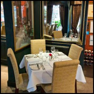 The rich and luxurious interior at the Stockbridge Restaurant
