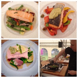 Chef Alfie Little packing in the five a day with his Scottish Salmon dishes