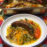 Sausage and pumpkin with orzo