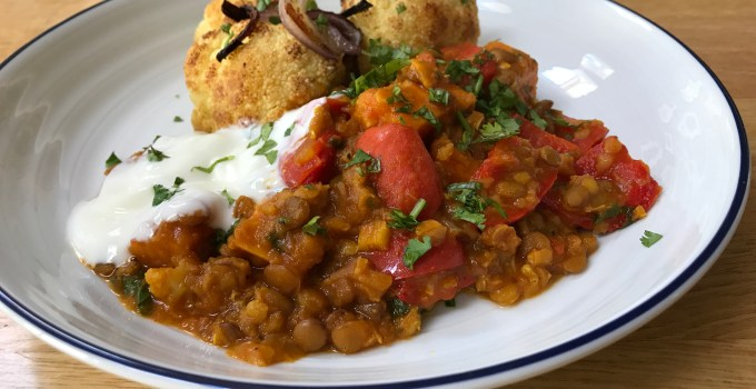 Sweet Potato, Red Pepper and Lentil Curry