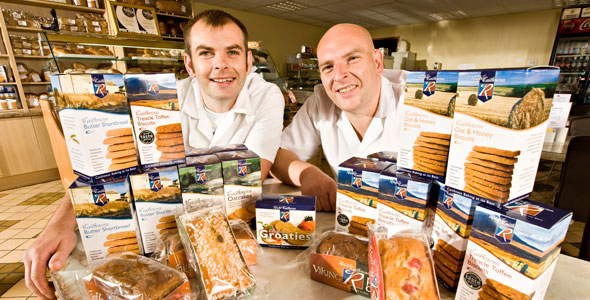 Third generation, Reid brothers, Gary and Graeme with some of their great cakes and biscuits