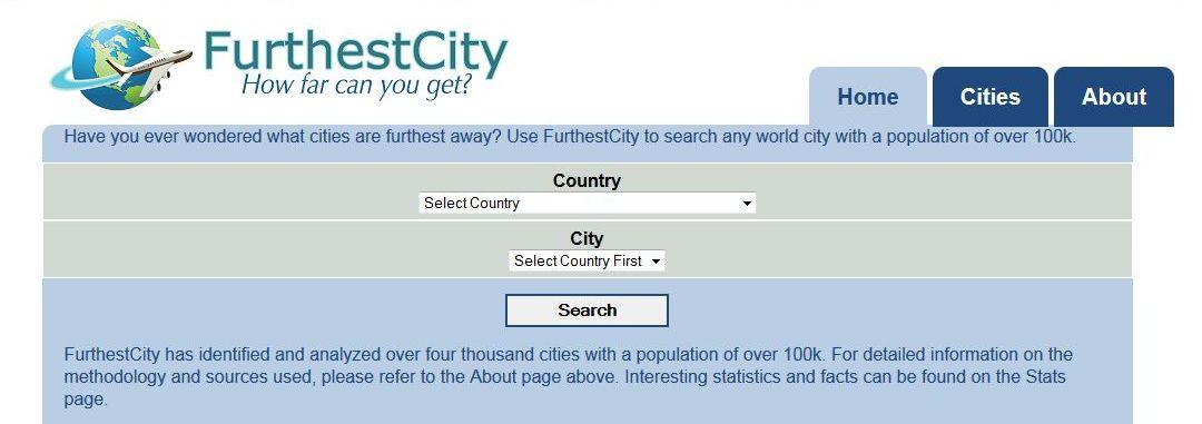 Welche Stadt liegt am weitesten entfernt von deiner Heimat?