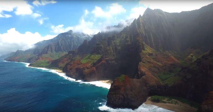 Kauai from the air Screencap 1