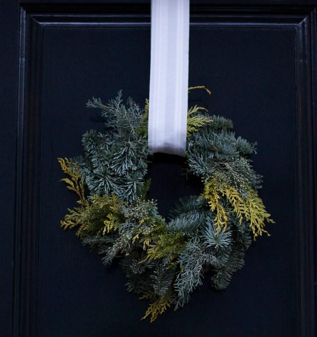 my favorite wintery wreath