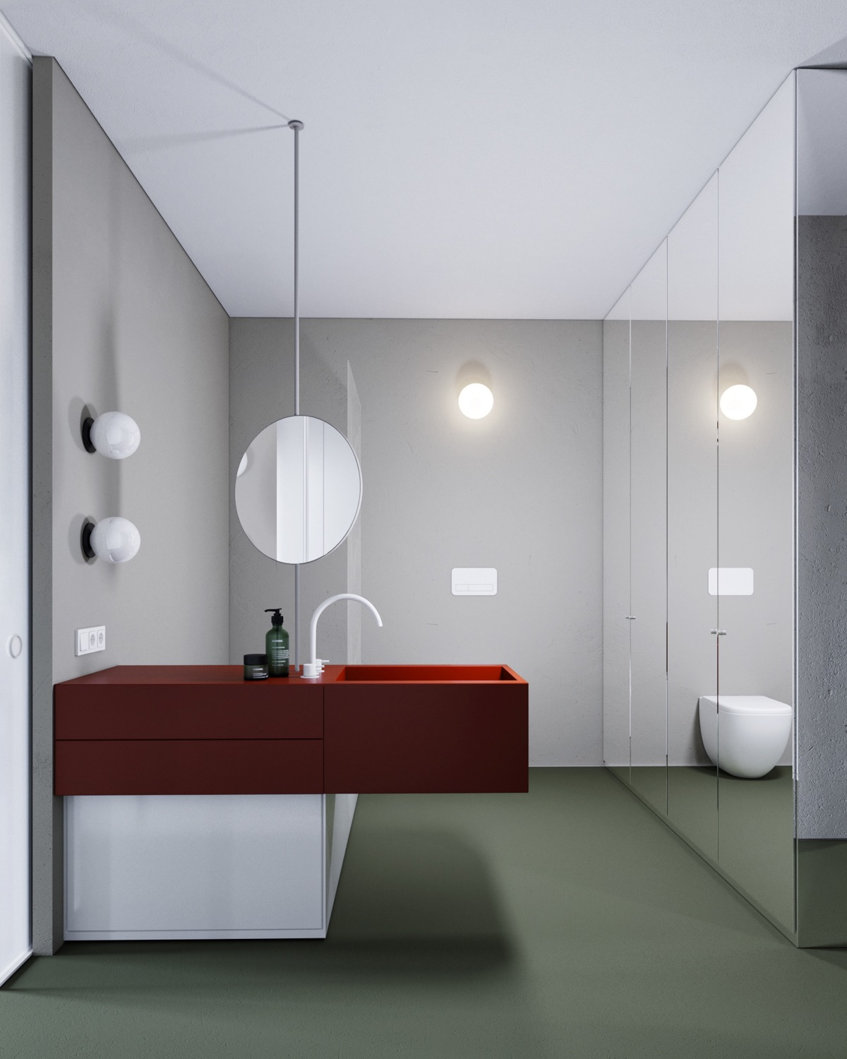 Red And Grey Bathroom Ideas Awesome Decors
