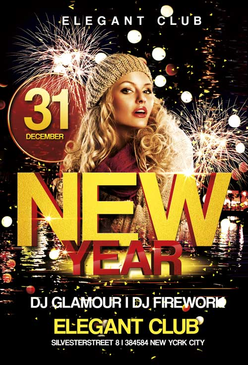Free New Year Club Flyer Template Awesomeflyer