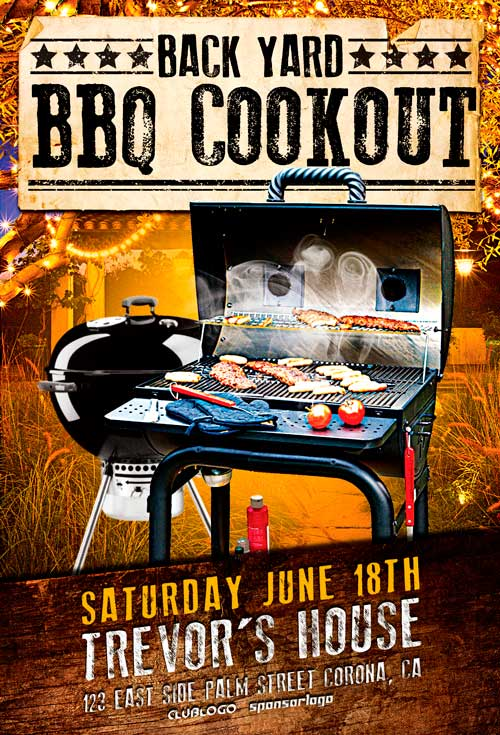 Backyard BBQ Party Flyer Template Awesomeflyer - bbq flyer