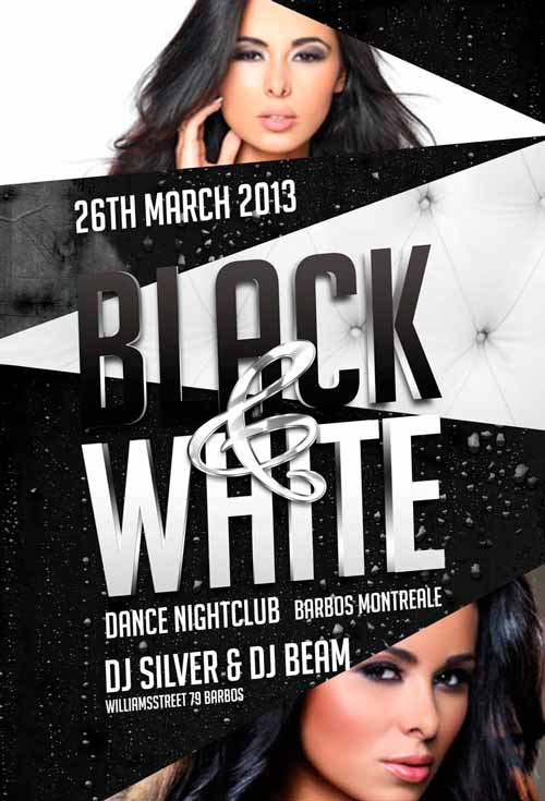 Black and White Party Flyer Template for Photoshop Awesomeflyer - black and white flyer template