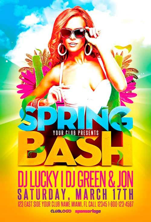 Spring Bash Flyer Template Vol2 for Photoshop Awesomeflyer