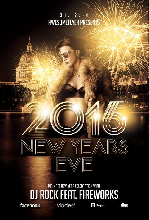 new years flyer template 3slufsluidsprekers