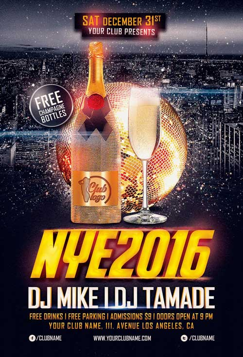 Download the New Years Eve Flyer Template Vol2 Awesomeflyer - free new years eve flyer template