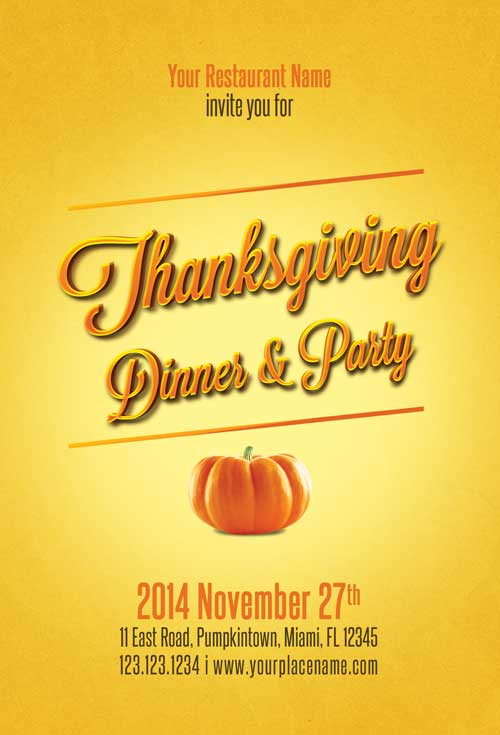 Download the Thanksgiving Flyer Template Awesomeflyer