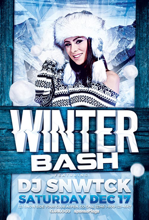 Download Winter Party Flyer Template Vol 4 Awesomeflyer - winter flyer template