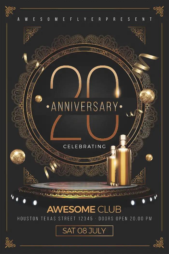 Elegant Anniversary Flyer Template - Download Elegant Classy PSD Flyer - anniversary flyer