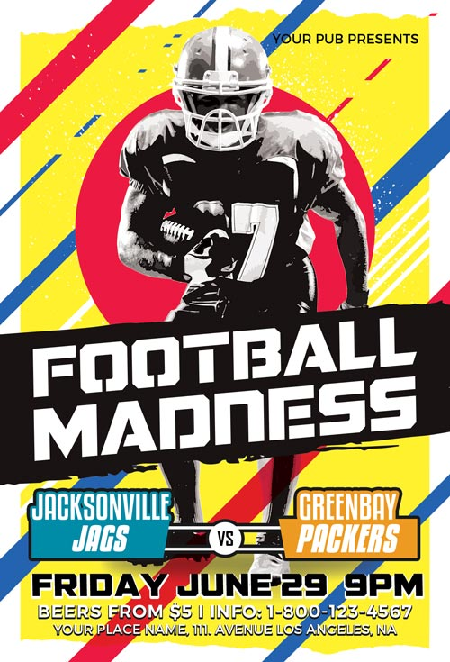 Football Madness Sport Flyer Template - Download The Best Sport Flyers