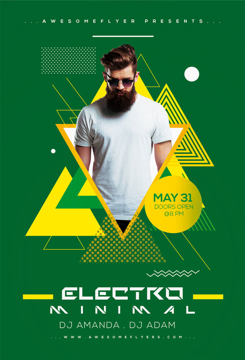 Minimal Electro Flyer Template for Photoshop Awesomeflyer