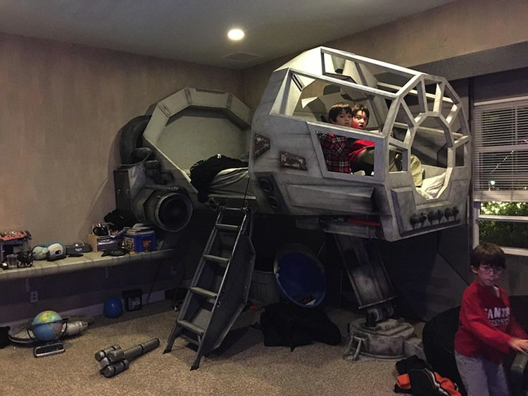 Bedroom Sofa Bed Melbourne This Amazing Dad Built An Awesome Star Wars Millennium