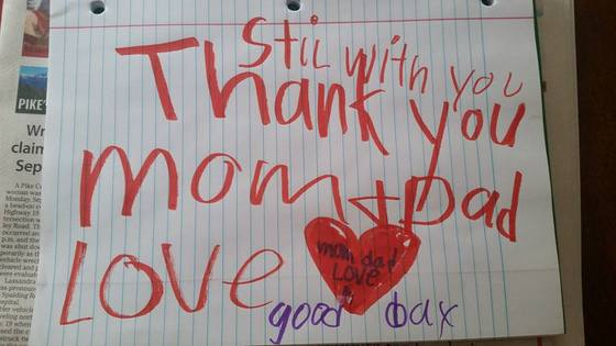 Family Finds u0027Thank Youu0027 \ u0027Goodbyeu0027 Note After 6-Year-Old Son Dies - goodbye note