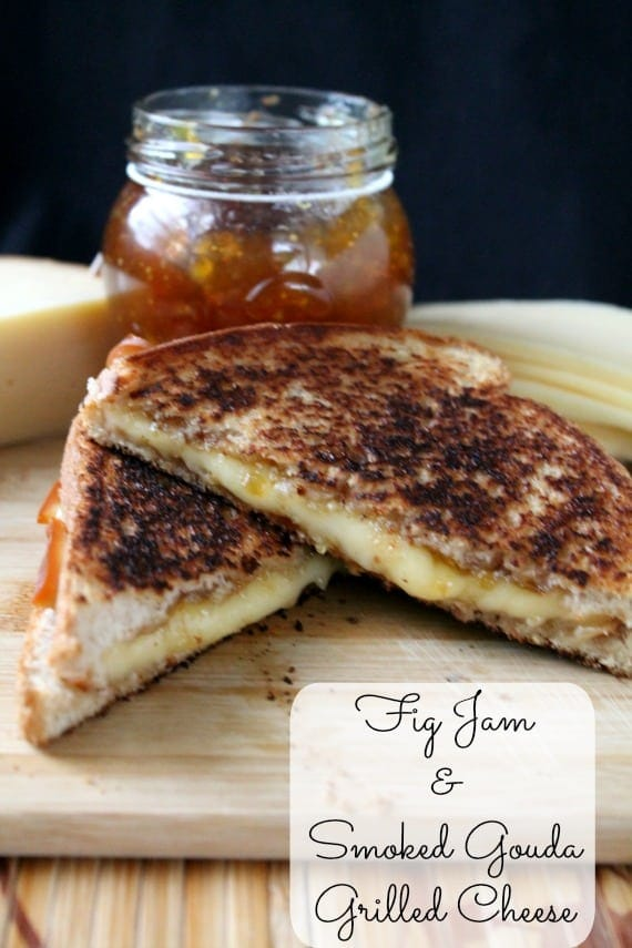 Fig Jam and Smoked Gouda Grilled Cheese