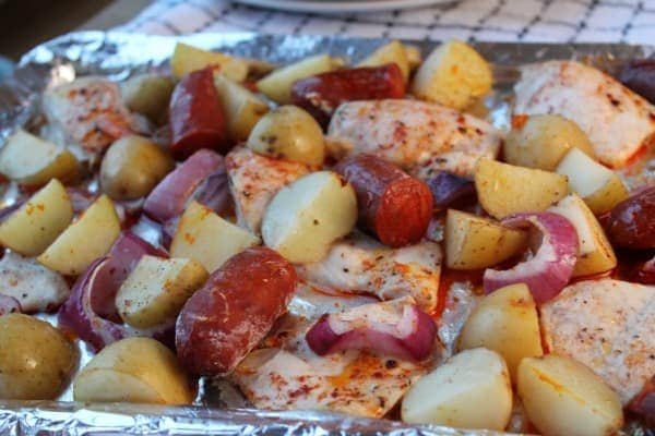 Spanish Chicken & Chorizo Bake | How to be Awesome on $20 a Day