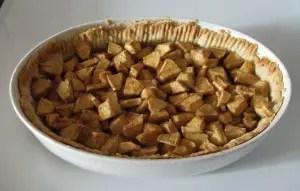 Open Faced Apple Pie
