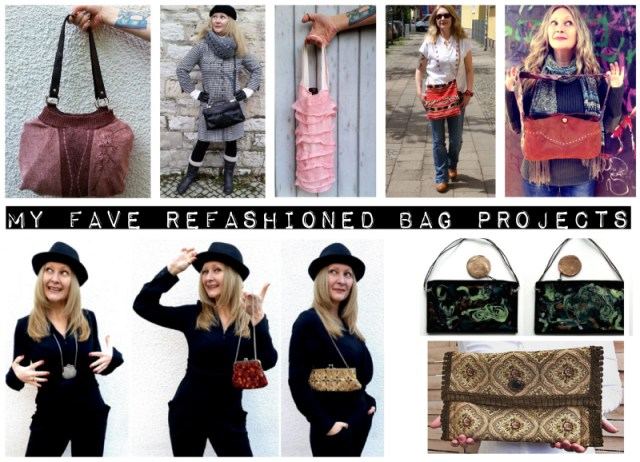 November refashion challenge Bags