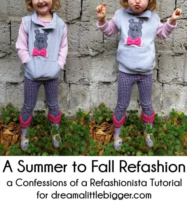 Summer to Fall Sweatshirt refashion tutorial