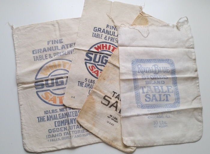 Help me refashion these vintage salt & sugar sacks