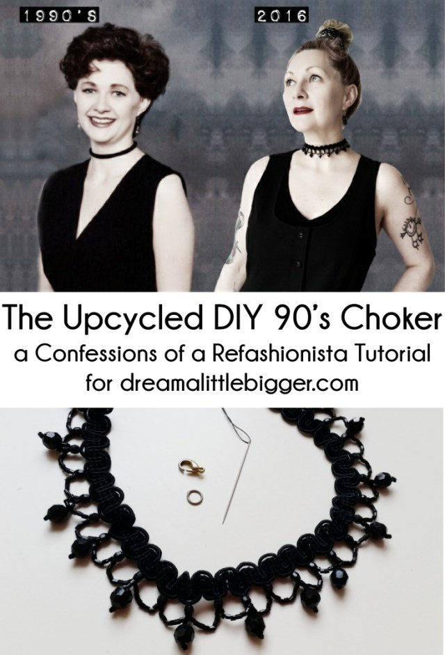 the upcycled DIY 90's choker