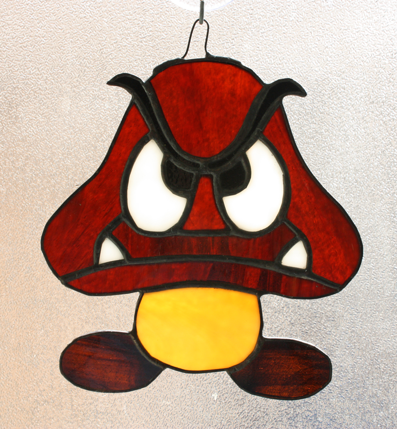 Goomba Sun Catcher \u2013 Awesome Sauce Designs \u2013 Vancouver Stained Glass
