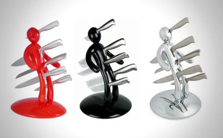 Voodoo Man Knife Block Awesome Kitchen Gadgets