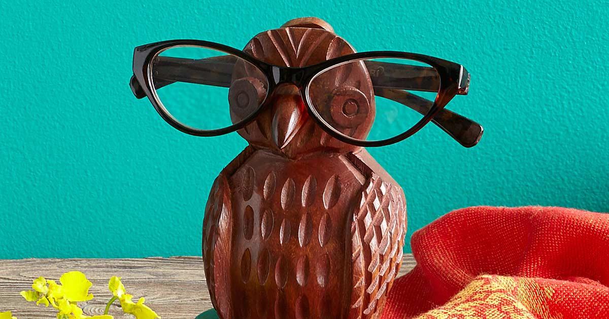 Owl Eye Glasses Holder Awesome Stuff 365