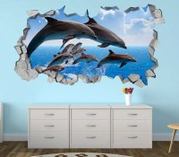 Dolphin Wall Art 3D Decals - Awesome Stuff 365