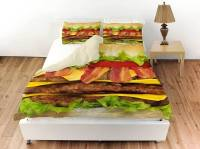 Cheeseburger Bed Sheets - Awesome Stuff to Buy