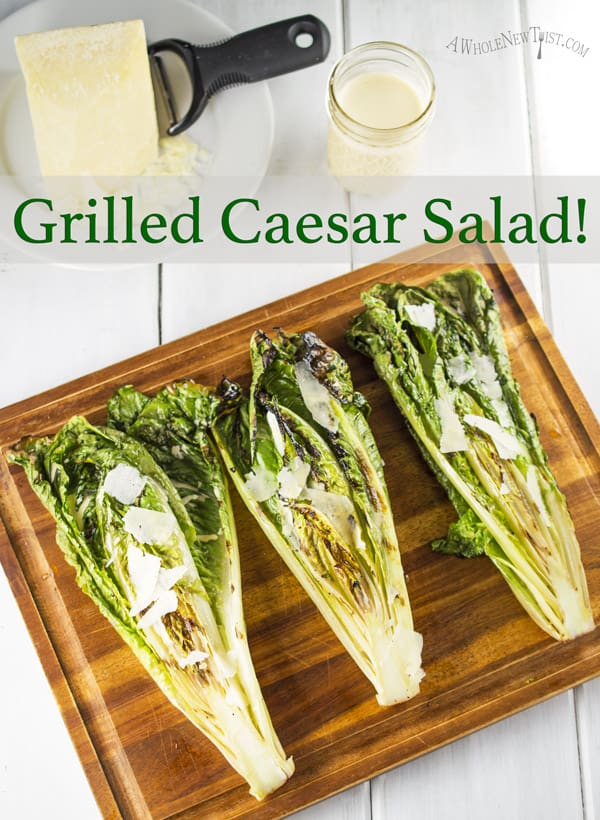 Grilled Caesar Salad! Yes that's right, we're grilling lettuce ...