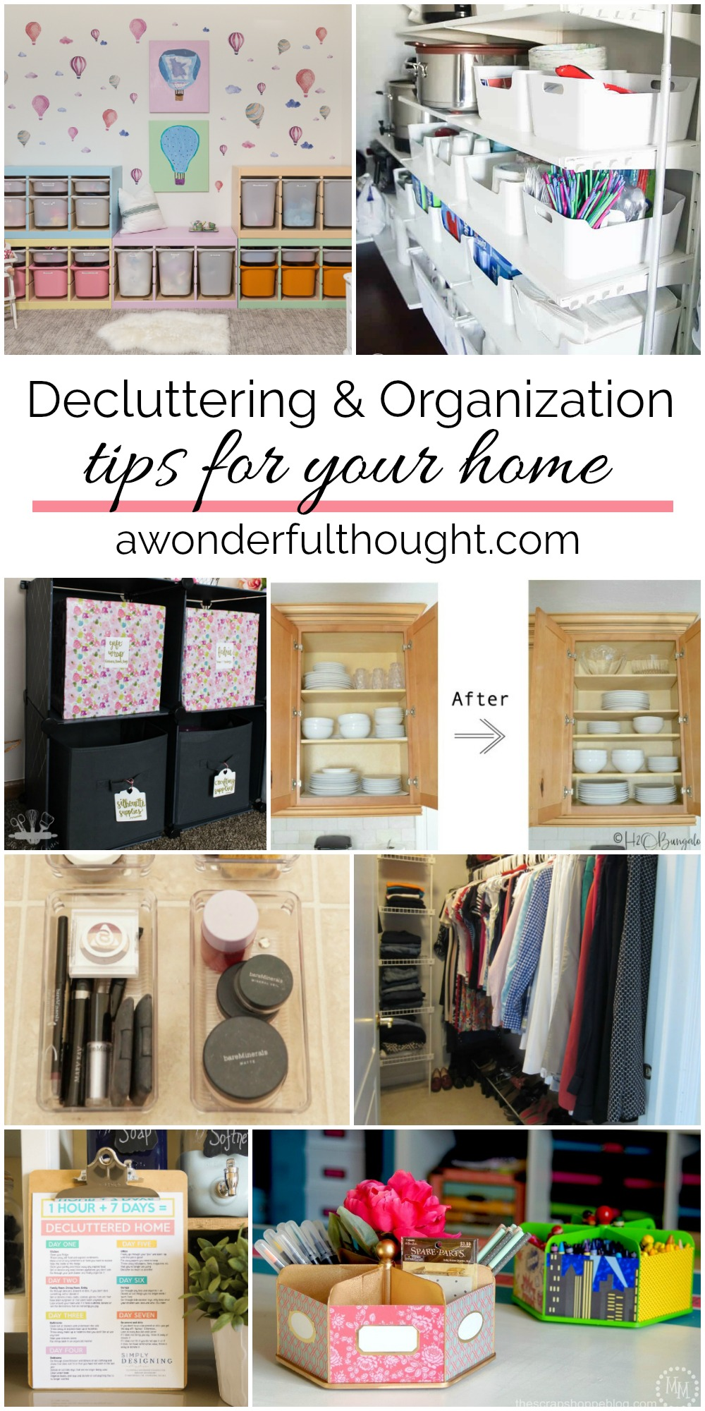 Home Organization Decluttering And Organizing Tips For Your Home A Wonderful Thought