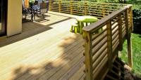 Horizontal Wood 2x2 Handrail Design - Deck Railing ...