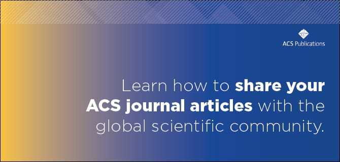 Sharing Your Work in Chemistry Researched Published with ACS