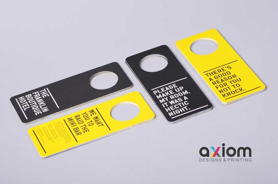 Door hanger printing services from Axiom Designs